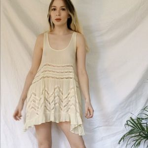 Free People voile trapeze slip in cream xs